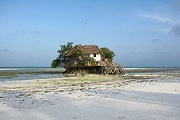 the rock of zanzibar island